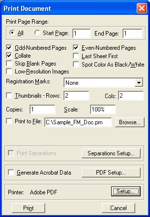 How to create PDFs from FM topics – Lotech Solutions