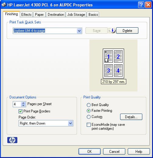 How To Print PDFs Four To A Sheet Lotech Solutions
